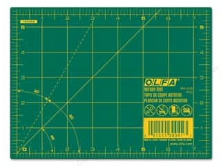 "Rotary Cutting Green: Olfa Cutting Mat 5.5""x 7.5"" Green 1"" Grid 1.5mm"