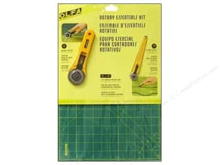 Cutting Mats Scissors, Edgers & Paper Cutting Tools: Olfa Rotary Cutter & Mat Set Essentials Kit