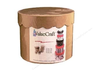 Glitter 3 1/2 g: Paper Mache Round Scallop Box Value Pack Set of 5 by Craft Pedlars