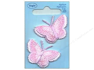 Wrights Applique Iron On Pink Butterflies