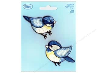 Wrights Applique Iron On Blue Birds