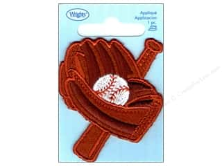Wrights Applique Iron On Large Baseball/Bat/Glove