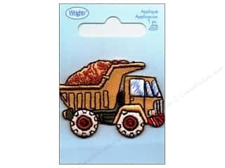 Wrights Applique Iron On Dump Truck