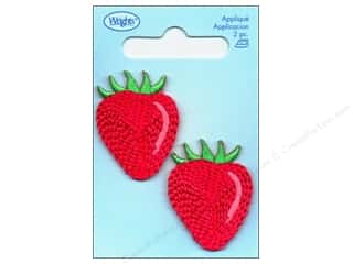 Wrights Appliques Iron On Strawberries