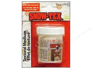 Resin, Ceramics, Plaster Clay & Modeling: DecoArt Snow-Tex 2oz Carded