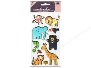 EK Success Dimensional Stickers: EK Sticko Stickers Puffy Zoo