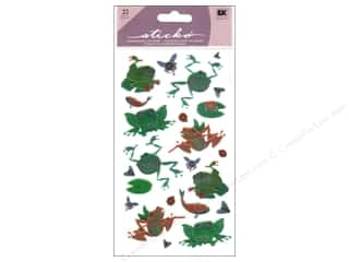 EK Sticko Stickers Metallic Froggies