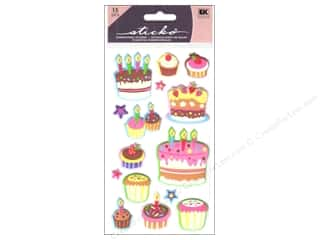 EK Sticko Stickers Puffy Cakes And Cupcakes