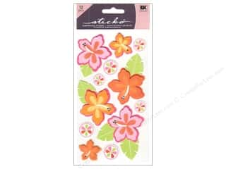 mm: EK Sticko Stickers Mixed 3D Hibiscus