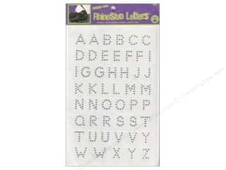 Best of 2012 ABC & 123: Rhinestud Iron-On Letters by Dritz 3/4 in. Silver
