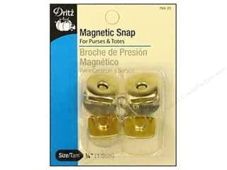 Purses Dritz Snaps: Magnetic Snaps by Dritz Square 3/4 in. Gilt 2 pc.