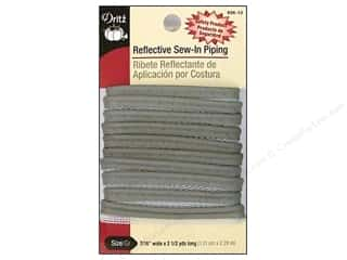 Dritz Reflective Sew In Piping Grey 90""