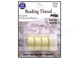 C&amp;C Beading Thread Tube 288yd Muslin 4pc