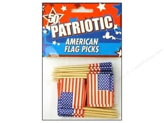 Fox Run: Fox Run Craftsmen American Flag Party Picks 50pc