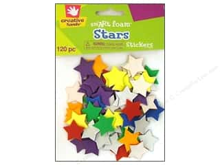 26-gauge floral wire: Fibre-Craft Foam Stickers Stars 120pc