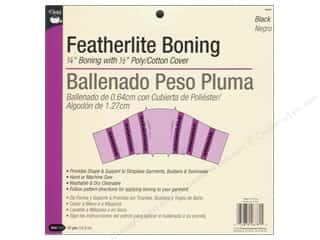 Boning / Stays: Featherlite Boning by Dritz 1/4 in. Black 12yd (12 yards)