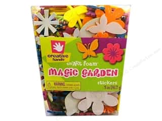 craft foam: Fibre-Craft Foam Stickers Magic Garden 5oz Bucket