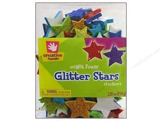 Fibre-Craft Foam Stickers Glitter Stars 2.25oz Bucket