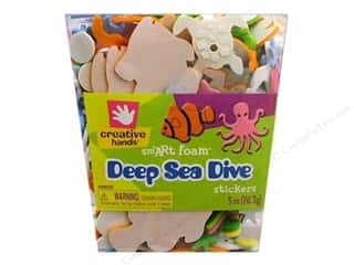 foam sticker: Fibre-Craft Foam Stickers Deep Sea 5oz Bucket