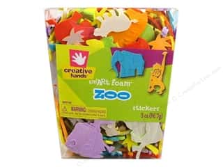 craft foam: Fibre-Craft Foam Stickers Zoo 5oz Bucket