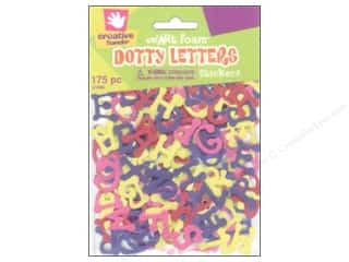craft foam: Fibre-Craft Foam Stickers Dotty Letters 175pc