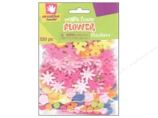 craft foam: Fibre-Craft Foam Stickers Flowers 320pc