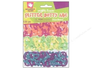 Fibre-Craft Foam Stickers Glitter Dotty ABC 125pc