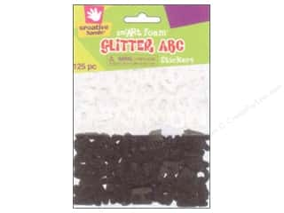 Fibre-Craft Foam Stickers Glitter ABC 125pc