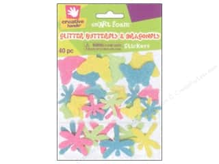 foam sticker: Fibre-Craft Foam Stickers Glit Butterfly/Dragnfly