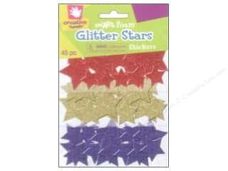 Fibre-Craft Foam Stickers Glitter Stars 45pc