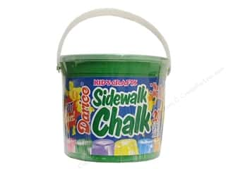 Chalk: Darice Kids Sidewalk Chalk Giant Bucket Brt 20pc