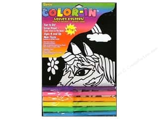 Darice Color-In Velvet Poster Kit 6x9&quot; Uncrn Fac