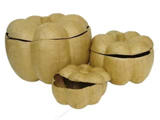 paper mache: Paper Mache Pumpkins Set of 3 by Craft Pedlars (2 sets)