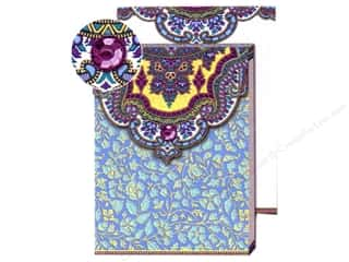 Punch Studio Pocket Note Pad Paisley Blue/Purple