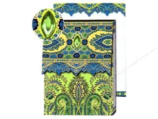 Punch Studio Pocket Note Pad Paisley Blue/Lime
