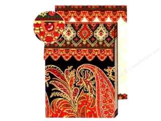 Punch Studio Pocket Note Pad Paisley Red/Black