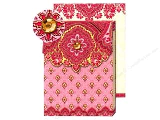 Punch Studio Pocket Note Pad Paisley Pink/Dark Pink