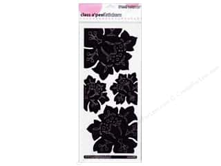 Stampendous Clearance Crafts: Stampendous Stickers Class A'Peel Jumbo Damask Rose Mirror Black