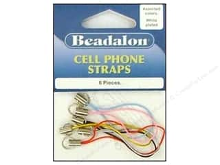Beadalon Cell Phone Strap Plain Assorted 6pc