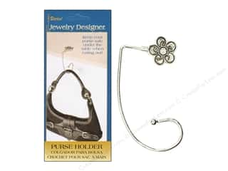 Darice Jewelry Designer Findings Purse Holder Assorted Designs Silver