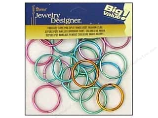 "Darice Jewelry Designer Split Ring 1.25"" Assorted Fashion 32pc"