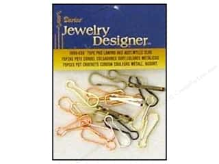 Darice Jewelry Designer Findings Lanyard Hooks Assorted Metallic 75pc