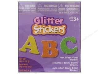 Kid Crafts ABC & 123: Darice Foamies Sticker Bucket Glitter Alphabet 1.05oz