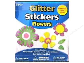 Kid Crafts Flowers: Darice Foamies Sticker Bucket Glitter Flower #1 1.05oz
