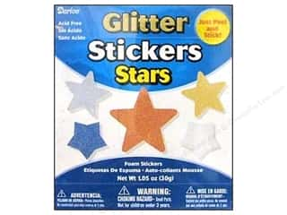 Independence Day: Darice Foamies Sticker Bucket Glitter Star 1.05oz