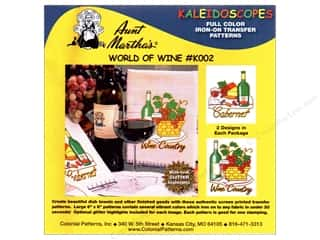 Aunt Martha&#39;s Iron On Kaleidoscopes World Of Wine