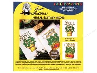 Finishes Flowers: Aunt Martha's Kaleidoscopes Full Color Iron-on Transfer Herbal Ecstasy