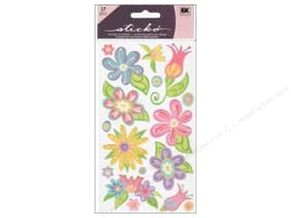 EK Success Stickers: EK Sticko Stickers Small Fanciful Flowers