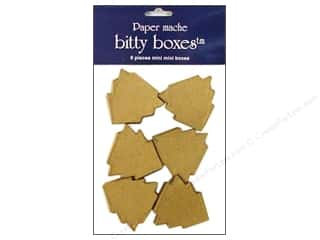 New Years Resolution Sale Organizers: Paper Mache Box Bitty Tree 6pc by Craft Pedlars