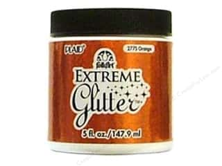 Brandtastic Sale Plaid FolkArt: Plaid FolkArt Extreme Glitter Paint 5oz Orange
